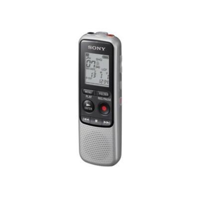 SONY Diktafon ICD-BX140 LCD, 4GB, Monó, HVXC/MP3, intelligens zajszűrés, hangra induló felvétel, felvételi idő 65 óra (1