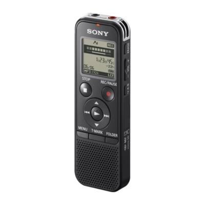SONY Diktafon ICD-PX440 LCD, 4GB, Sztereó, MP3, intelligens zajszűrés, hangra induló felvétel, felvételi idő 67 óra (128