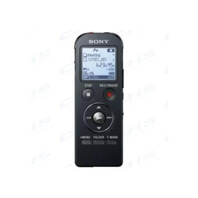 SONY Diktafon ICD-UX533B LCD, 4GB, Sztereó, Lineáris PCM/MP3, intelligens zajszűrés, hangra induló felvétel, felvételi i