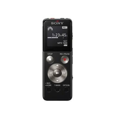 SONY Diktafon ICD-UX543B LCD, 4GB, Sztereó, Lineáris PCM/MP3, intelligens zajszűrés, hangra induló felvétel, felvételi i